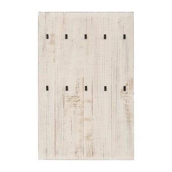 Cuier de perete din lemn masiv de pin Støraa Santana, alb