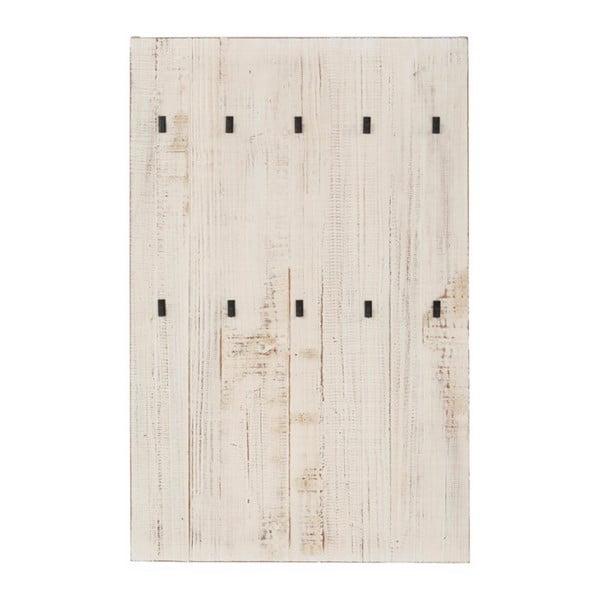 Biały wieszak ścienny z litego drewna sosnowego do przedpokoju Støraa Santana