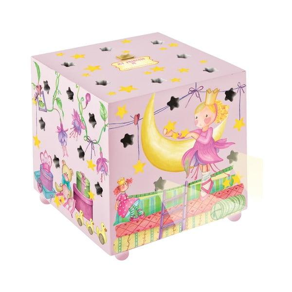 Růžová dětská lampa Fairytale