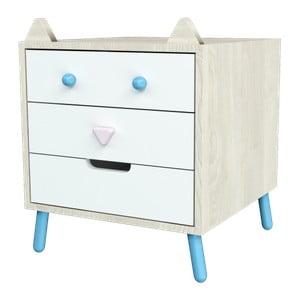 Komoda s modrými detaily Dotties Tlustá kočka
