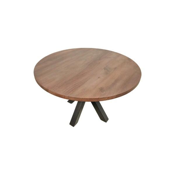 Guľatý jedálenský stôl s doskou z mangového dreva HMS collection, ⌀ 140 cm