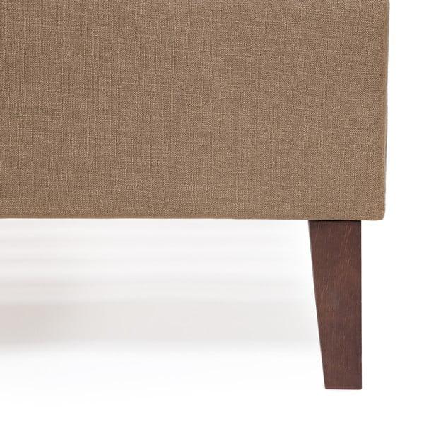 Postel ve velbloudí hnědé barvě Vivonita Windsor Linen, 200x180cm