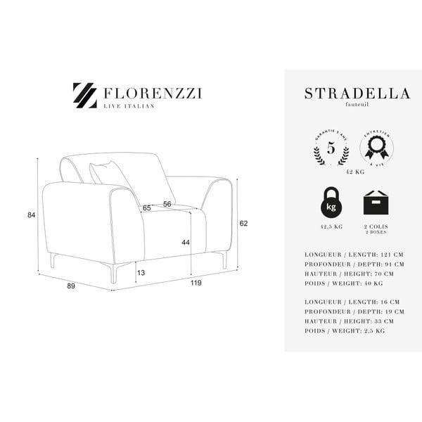 Krémově bílé křeslo Florenzzi Stradella