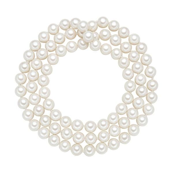 Náhrdelník s bílými perlami ⌀10 mm Perldesse Muschel, délka 90 cm