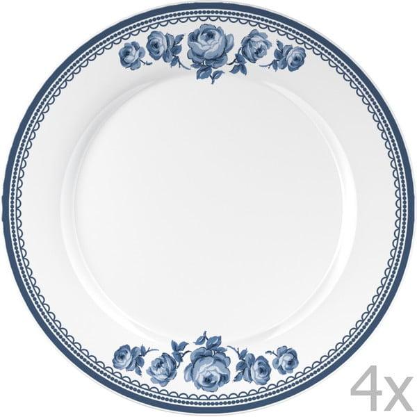 Sada 4 talířů  Katie Alice Indigo, 27 cm