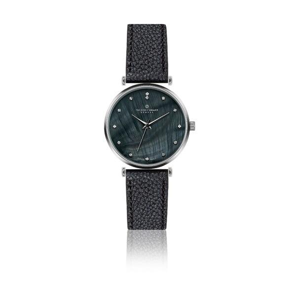 Damski zegarek z czarnym paskiem ze skóry naturalnej Frederic Graff Mont Dolent