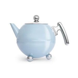 Světle modrá konvice na čaj Bredemeijer Bella Ronde, 1,2l