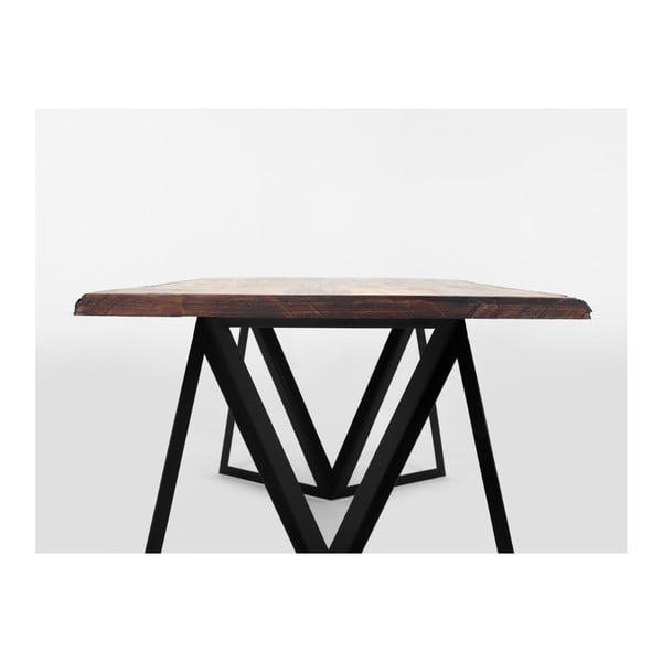 Jídelní stůl s deskou z borovicového dřeva Custom Form Sherwood Dark,180x90cm
