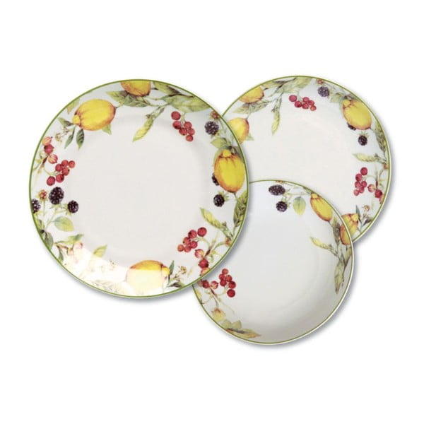 Porcelánová sada 18 talířů Fruit