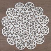 Kulaté prostírání ve stříbrné barvě InArt XMas Snowflake