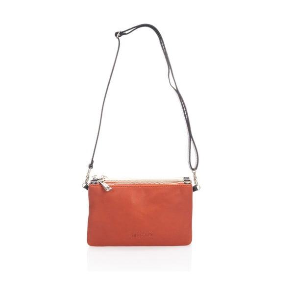 Kožená kabelka Krole Kody se třemi kapsičkami, oranžová