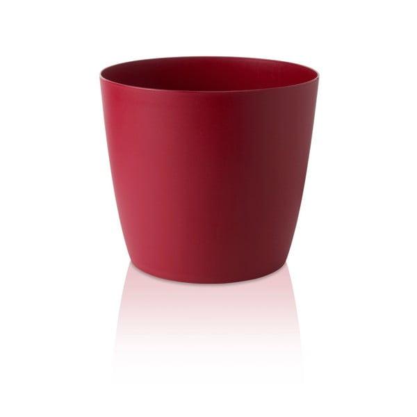 Czerwona doniczka na kółkach Gardenico Ella Twist'n'Roll Smart System, ø 35 cm
