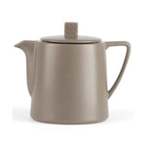 Šedohnědá keramická konvice se sítkem na sypaný čaj Bredemeijer Lund, 1 l