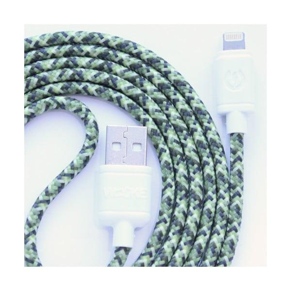 Nabíjecí kabel Lightning pro iPhone 5 a iPhone 6 Green Camo, 1,5 m