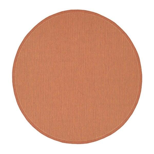 Oranžový venkovní koberec Floorita Tatami, ø 200 cm