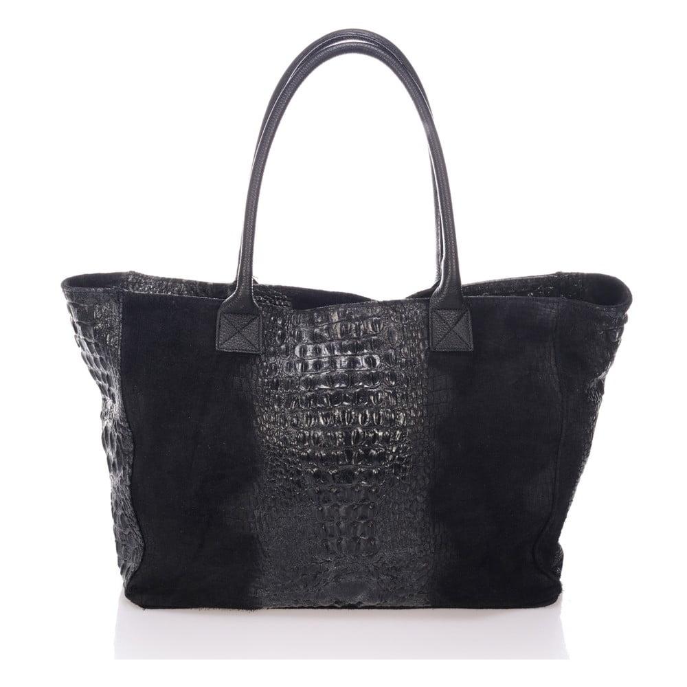 Černá kožená kabelka Lisa Minardi Fausta Lisa Minardi