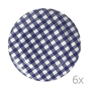 Sada 6 talířů Livia 24 cm, modrý