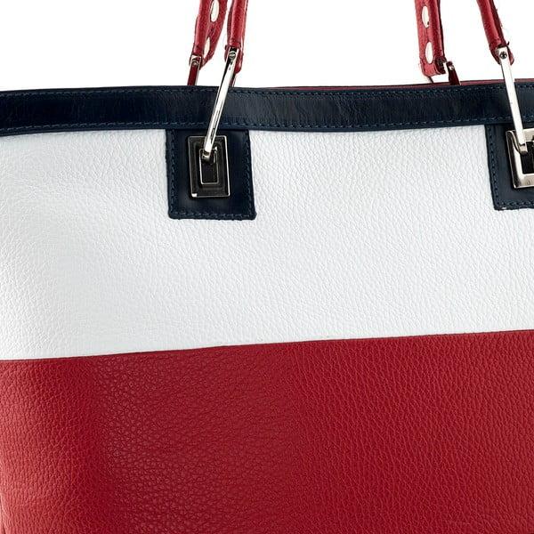 Kabelka Mantova, bílo-červená