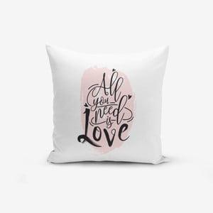 Povlak na polštář s příměsí bavlny Minimalist Cushion Covers Writting,45x45cm