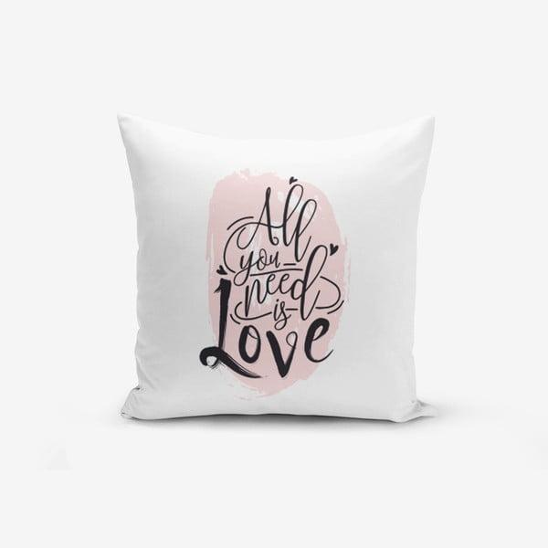 Poszewka na poduszkę z domieszką bawełny Minimalist Cushion Covers Writting, 45x45 cm
