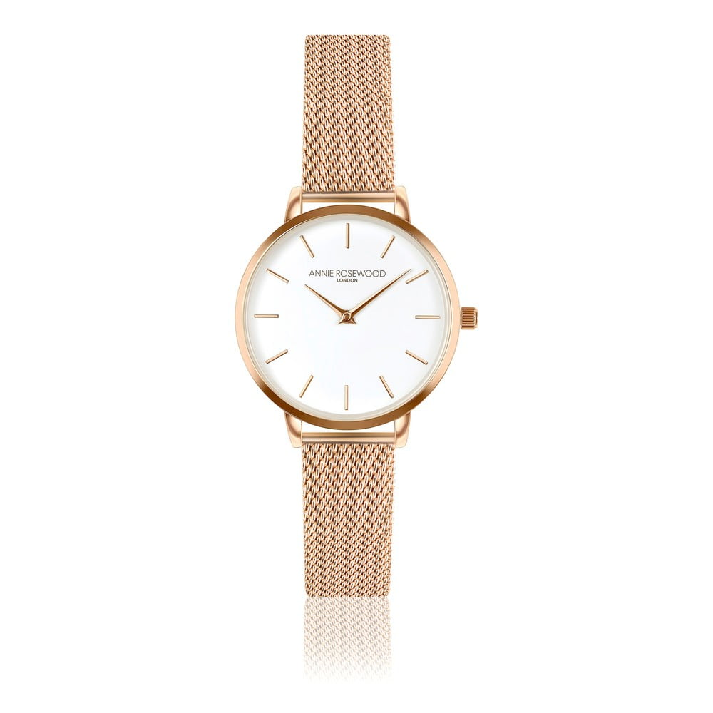 Dámské hodinky snerezovým páskem Annie Rosewood Elsa Rose Gold