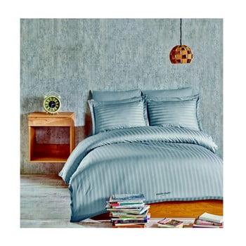Lenjerie de pat din bumbac satinat cu cearșaf Blackburn, 160 x 220 cm