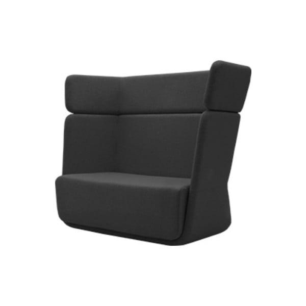 Ciemnoszary fotel Softline Basket Vision Grey