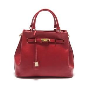 Červená kožená kabelka Isabella Rhea Azalea