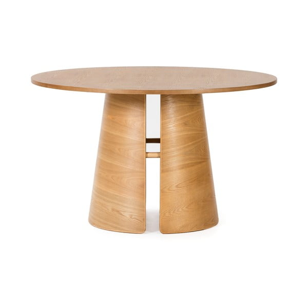Masă dining rotundă Teulat Cep, ø 137 cm, natural