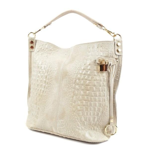 Béžová kožená kabelka RobertaM Russna