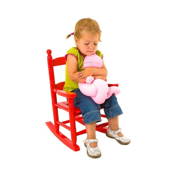 Dětská houpací židle, červená