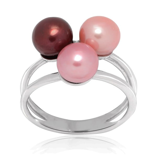 Prsten Pure Pearls Pink Candy, vel. 58