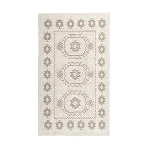 Krémový bavlněný koberec Floorist Emily, 60x90cm