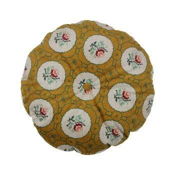 Pernă rotundă decorativă BePureHome Granny, ø 45 cm, galben