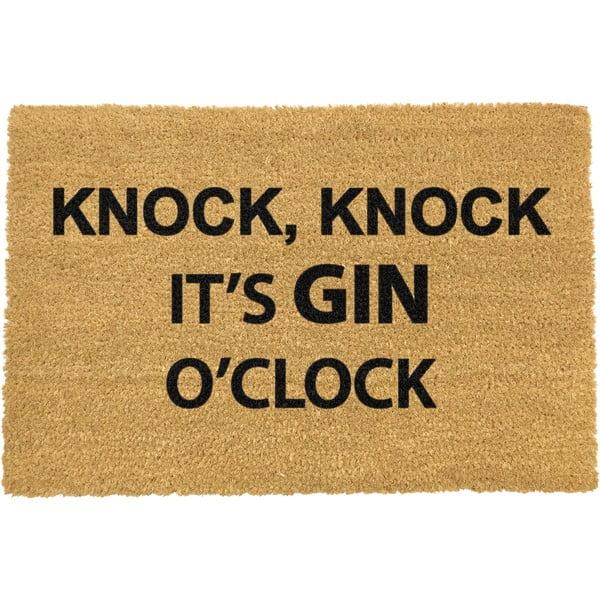 Rohožka z prírodného kokosového vlákna Artsy Doormats Gin O'Clock, 40 x 60 cm