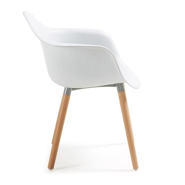 Sada 2 bílých jídelních židlí La Forma Kenna