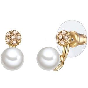 Cercei cu perlă albă Perldesse Con, ⌀ 7 mm