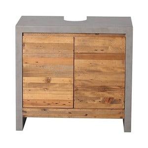 Šedá skříňka pod umyvadlo z borovicového dřeva Woodking Stonewall