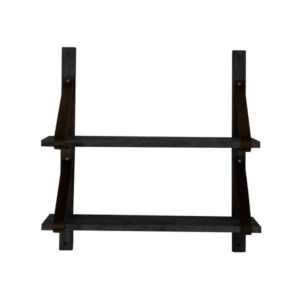Czarna półka z drewna dębowego Canett Uno