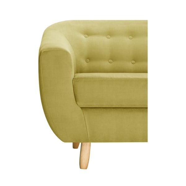 Žlutá dvoumístná pohovka Jalouse Maison Vicky