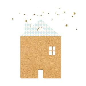 Dekorativní samolepící nástěnka Dekornik Blue House With Stars
