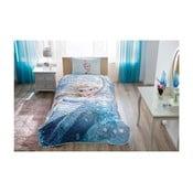Set přehozu přes postel a povlaku na polštář Disney Frozen Glitter, 160 x 220 cm