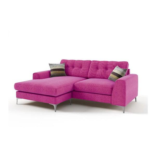 Rohová sedačka Ebony, růžová
