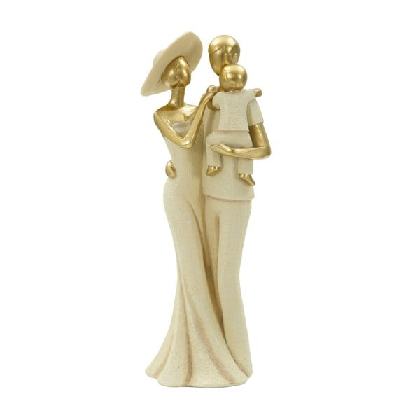 Statuetă decorativă cu detalii aurii Mauro Ferretti Familia