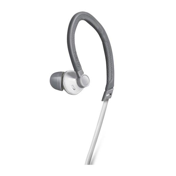 Sportovní sluchátka CELLY s mikrofonem, bílá