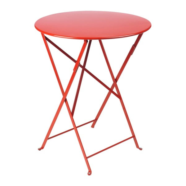Červený zahradní stolek Fermob Bistro, Ø 60 cm