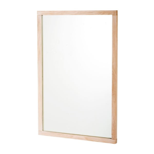 Oglindă cu ramă mată din lemn de stejar, Rowico Lodur