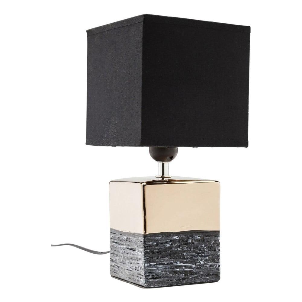 Stolní lampa ve zlaté barvě s černým stínítkem Kare Design Creation