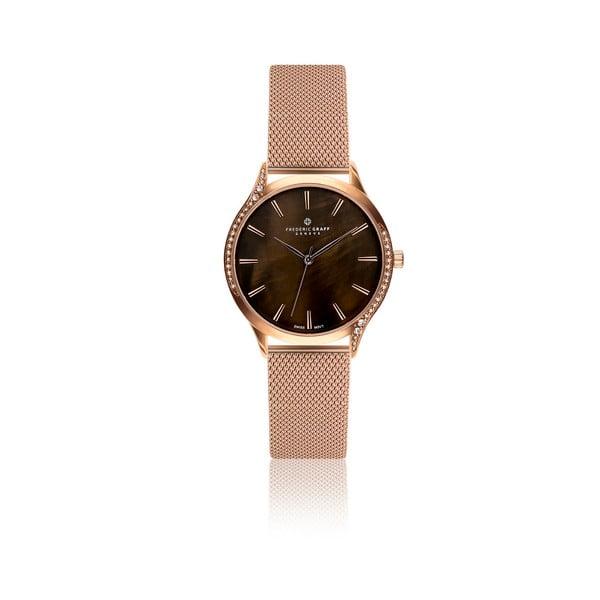 Dámské hodinky s páskem v růžovozlaté barvě Frederic Graff Juliet