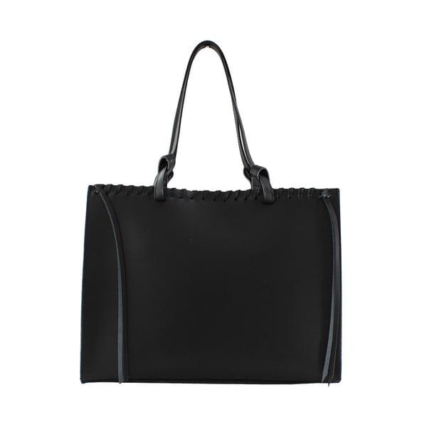 Kožená kabelka Linda, černá